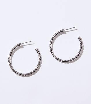 Loft Rope Hoop Earrings