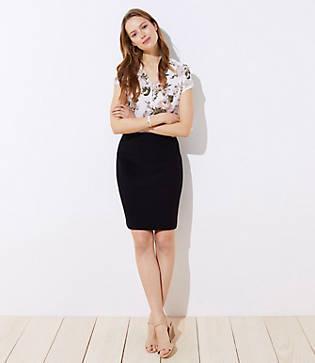 Loft Doubleweave Pencil Skirt