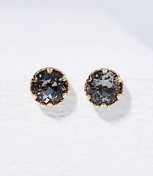 Loft Faceted Stone Stud Earrings