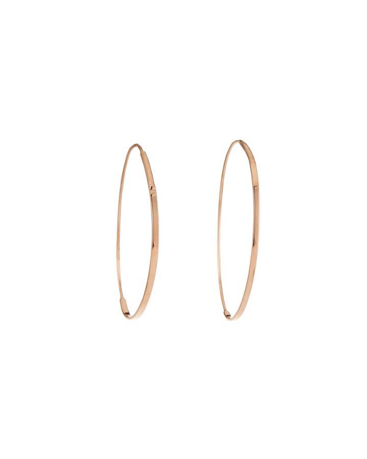 14k Rose Gold Small Tear Hoop Earrings