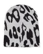 Animal-print Knit Beanie