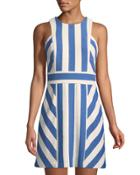 Graphic Striped Sleeveless Dress