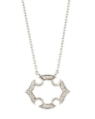Malta 18k White Gold Diamond Pendant Necklace