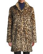 Animal Print Faux-fur Coat