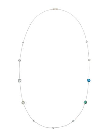 Rock Candy Station Necklace In Blue