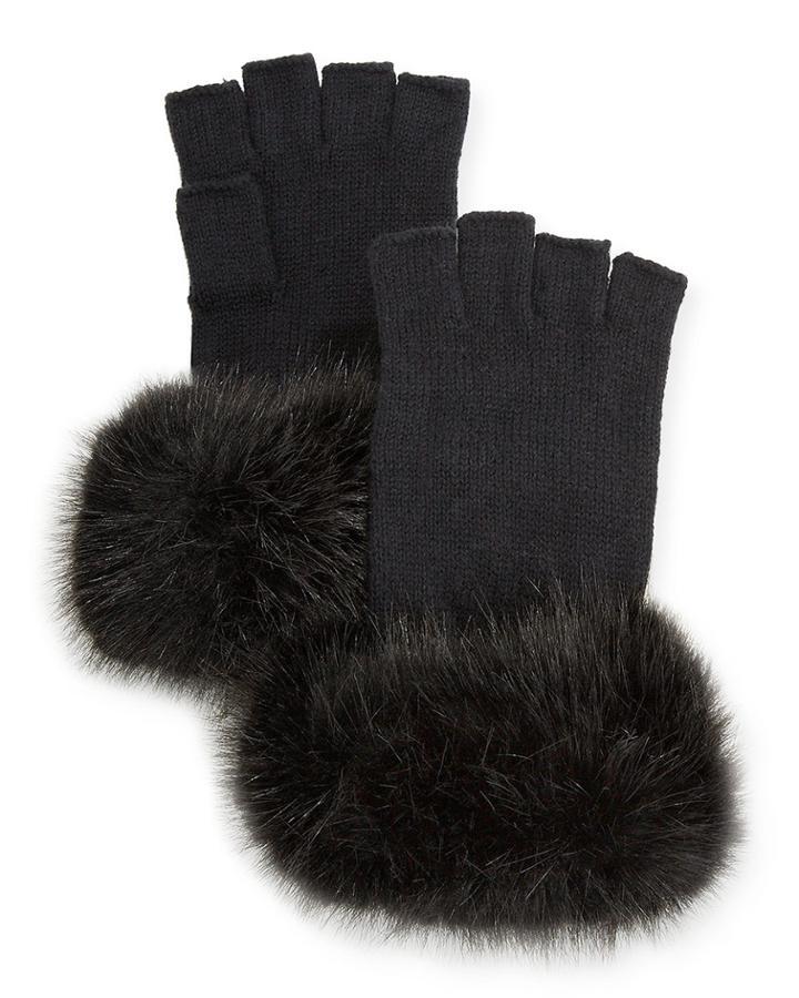 Fingerless Faux Fur Gloves