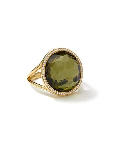18k Rock Candy Mini Lollipop Ring In Pyrite & Diamond,