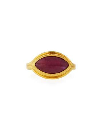 Pandora's Box 24k Marquise-cut Ruby Ring,