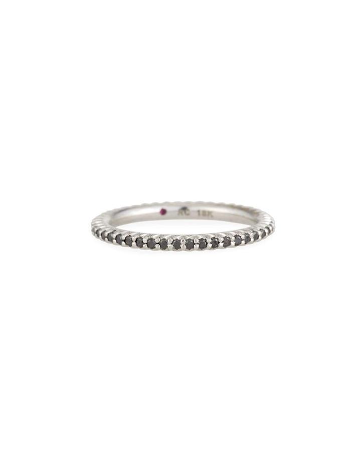 18k Black Diamond Ring,