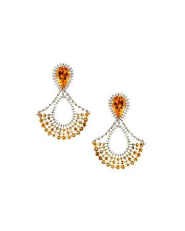 18k Citrine, Sapphire & Diamond Chandelier Earrings