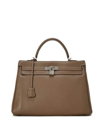 Kelly Retourne 35 Top Handle Bag, Etoupe