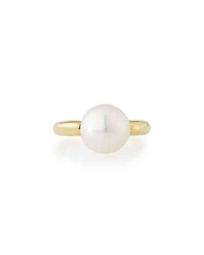 18k White South Sea Pearl Ring,