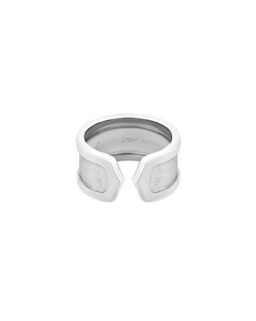 Estate 18k White Gold Double-c Ring,
