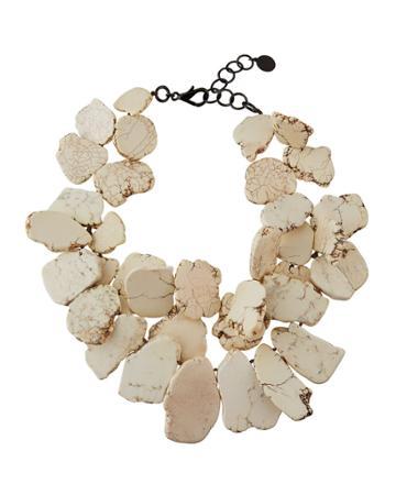Chunky White Howlite Bib Necklace