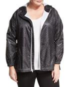 Perforated Hooded Packable Wind-resistant Jacket,