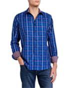 Men's Ocean Breeze Sport Shirt W/ Contrast Reverse Detail
