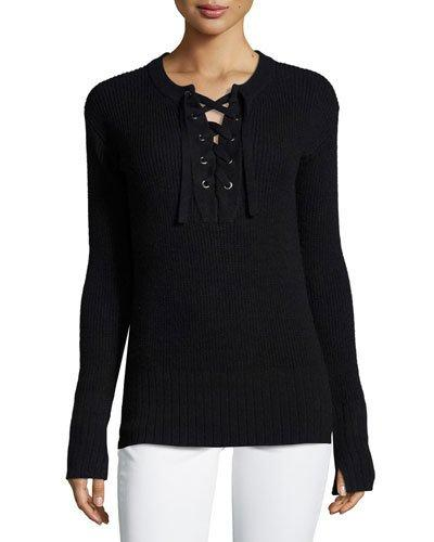 Lace-up Long-sleeve