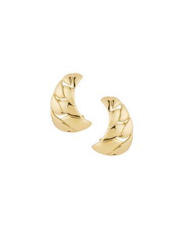Estate 18k Gold Curve Clip-on Earrings