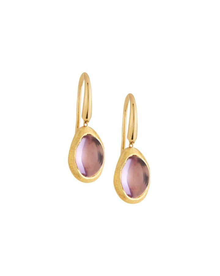 18k Gold Amethyst Confetti Drop Earrings