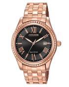 40mm Rose Golden Bracelet Watch, Black