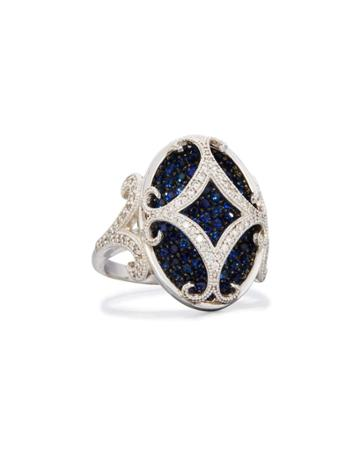 Florentine 18k Sapphire & Diamond Cocktail Ring,