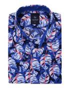 Men's Leaf-print Short-sleeve Cotton
