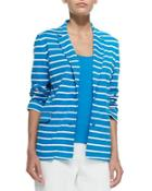 Striped Knit Jacket, Women's