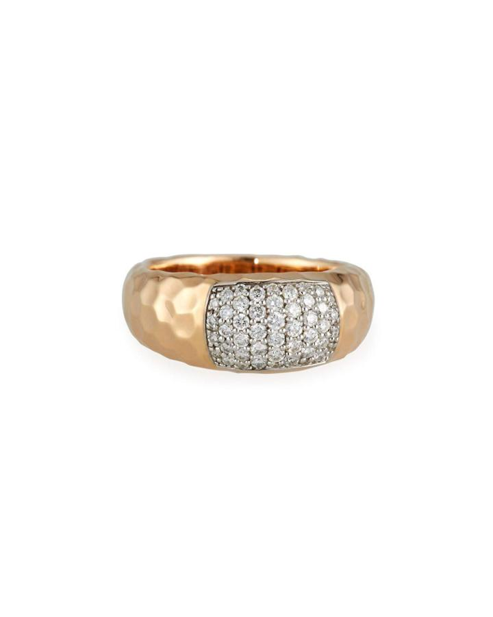 18k Martellato Diamond Ring,