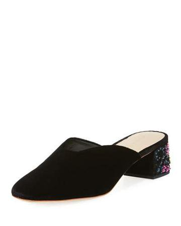 Lulu Velvet Sequin-heel