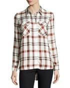 May Plaid Button-front