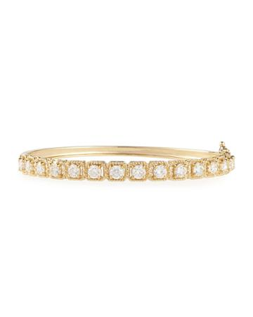 Neiman Marcus 14k Yellow Gold Diamond Bangle Bracelet, 2.0tcw, Women's