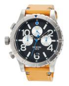 48-20 Chrono Leather Watch, Black/brown