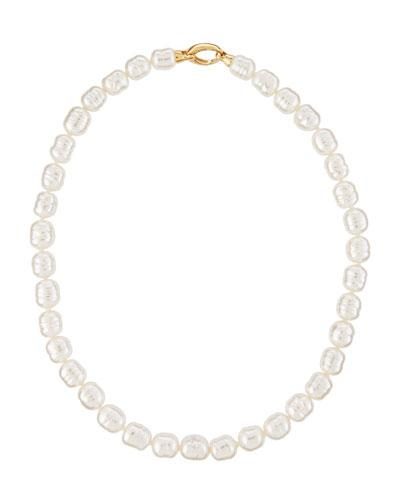 Baroque White Pearl Necklace,