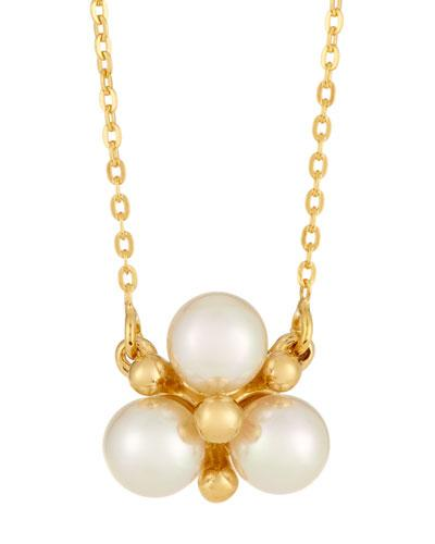 You & I Manmade Pearl Cluster Pendant Necklace