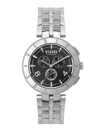 Men's 44mm Chronograph Watch W/ Bracelet, Black/silver
