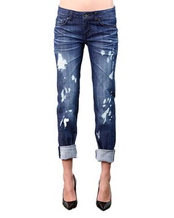 X Boyfriend Destroyed Denim Jeans