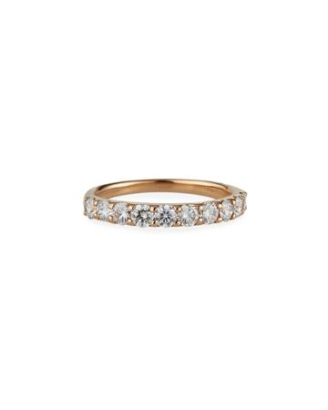 Estate 18k Rose Gold Diamond Ring,
