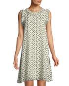 Dot-print Georgette Dress