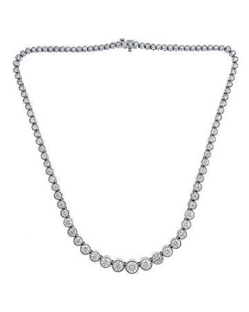 Graduated Diamond Tennis Necklace,