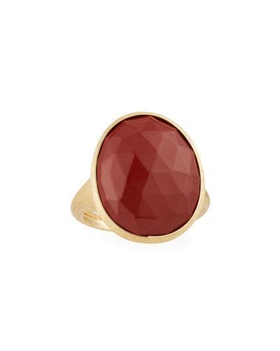 Lunaria 18k Red Jasper Medium Cocktail Ring,