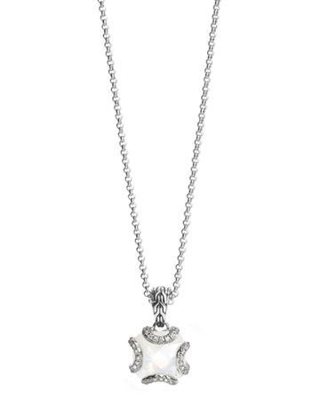 Diamond & Quartz Pendant Necklace