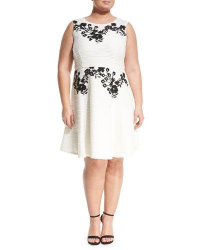 Corded Floral Embroidered Dress,