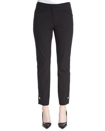 Grommet-snap Cropped Pants