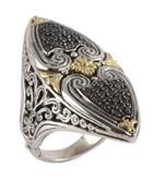 Asteri Marquise Ring W/ Pave Black Diamonds,
