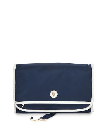 Neiman Marcus Fold-out Valet Travel Bag, Navy