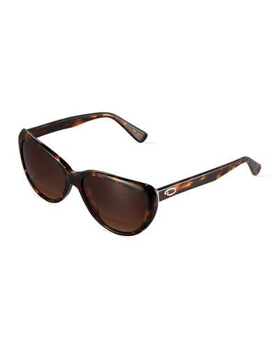 Small Extreme Cat-eye Sunglasses, Tortoise