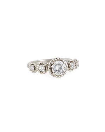 14k Five-diamond Ring,