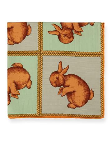 Estate Silk Rabbit Pocket