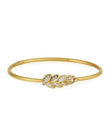 Sonoma 18k Gold Diamond Bangle Bracelet