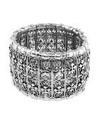 Classic Sterling Silver Woven Cross Cuff Bracelet